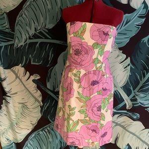 Loft strapless floral dress